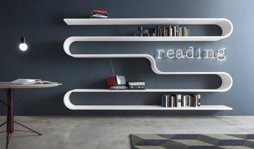 Bibliothek und TV-Möbel in einem