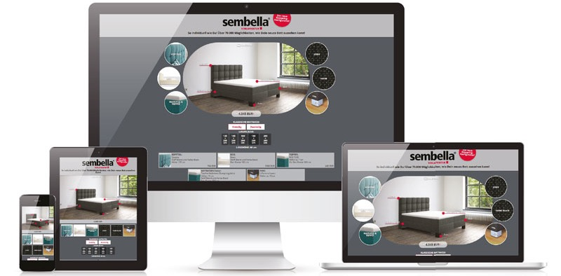 Boxspring-Konfigurator von Sembella