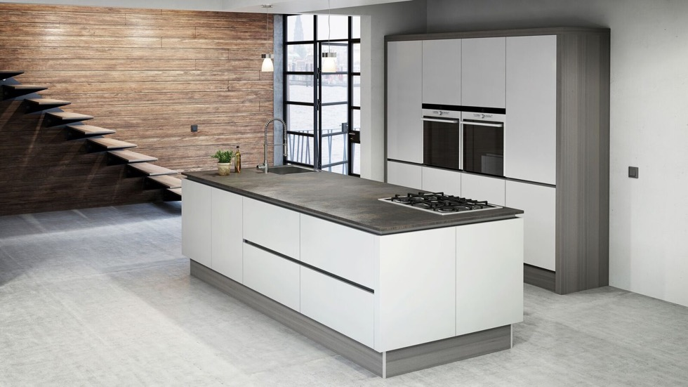 Küchendeitail Keramik-Arbeitsplatte