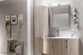 Badezimmer in Holzoptik