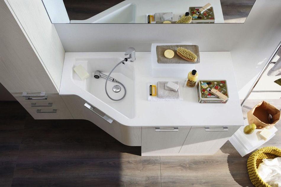 Waschtisch, weiße Badmöbel