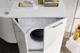 Waschmaschine im Bad integriert