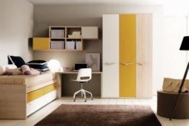 Kinder- und Jugendzimmer in gelb/weiß