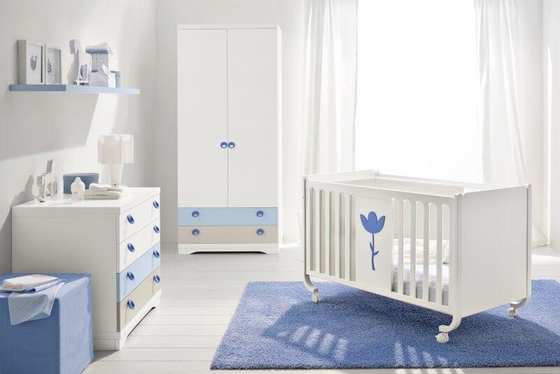 Babyzimmer weiß/hellblau