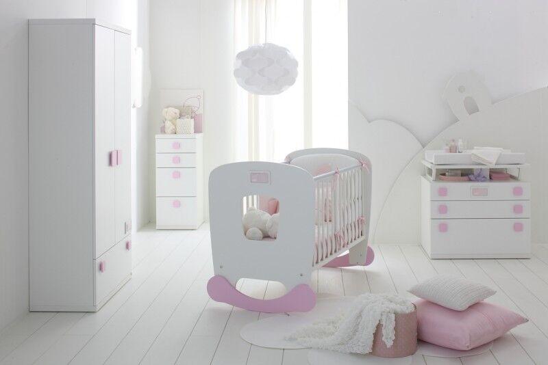 Babyzimmer pink/weiß