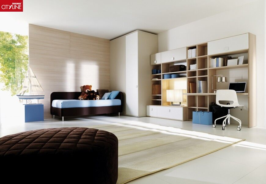 Jugendzimmer in beige/hellbraun