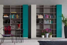 Wohnwand, Regal, Bibliothek