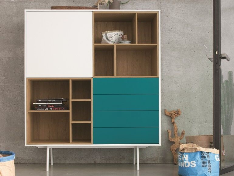 Highboard, modular aus Holz