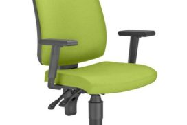 Bürostuhl mit Armlehnen, Bezug grün