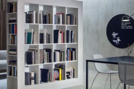 Buchregal, Bibliothek, Raumteiler