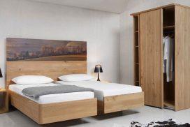 Schlafzimmer in Massivholz Fichte gewachst oder natur