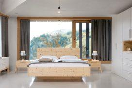 Hochwertiges Schlafraumprogramm in Zirbenholz