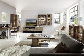 Wohnzimmer mit Beimöbel in Kerneiche Umato