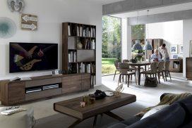 TV-Möbel, Sitzgruppe in Wildnuss massiv