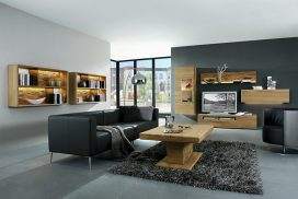 Wohnzimmer in Wildeiche massiv