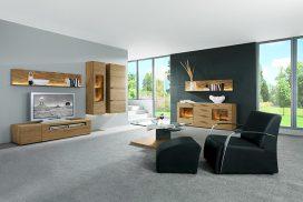 TV-Möbel, Sideboard in Wildeiche massiv