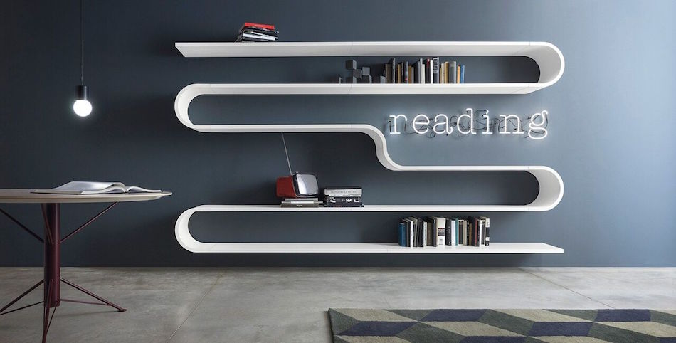 Wohnwand-Objekt, Bibliothek