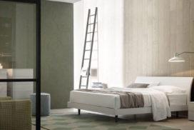 Bett naturweiß, Sideboard