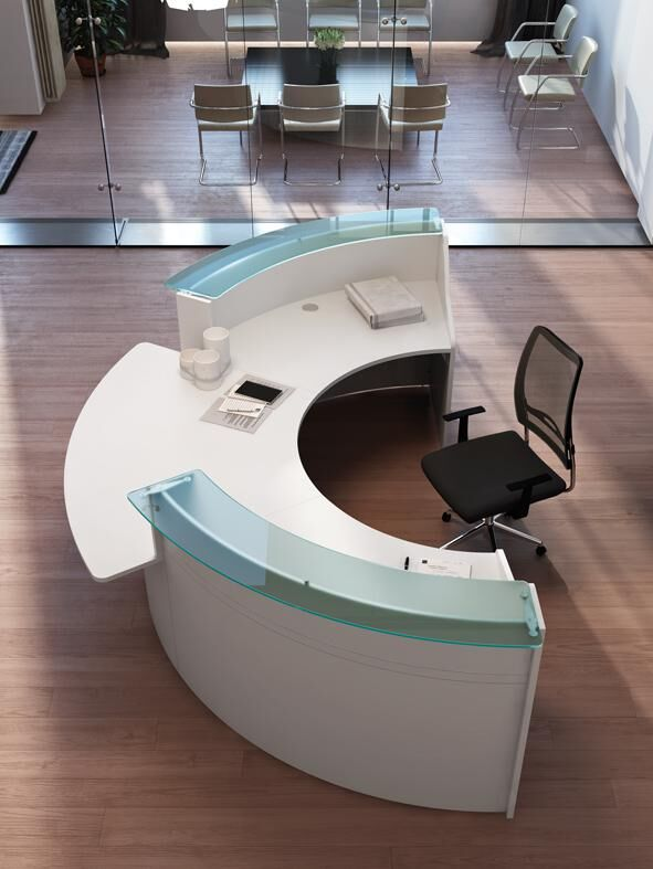 Empfangsbereich Büro oder Praxis, Glas/weiß