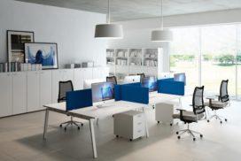 Das Creative-Büro für sechs Arbeitsplätze