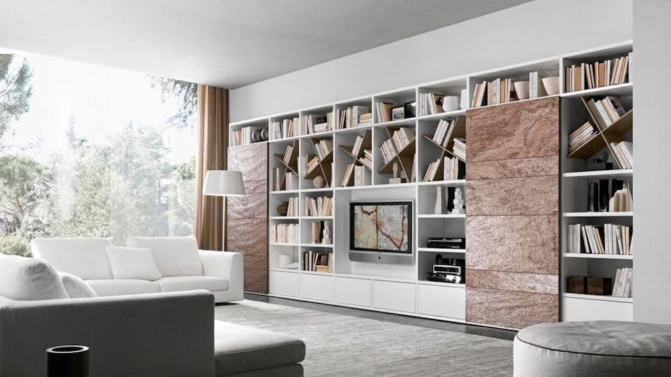Wohnwand, Bibliothek