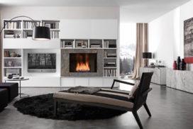 Wohnwand, Bücherregal, Sideboard