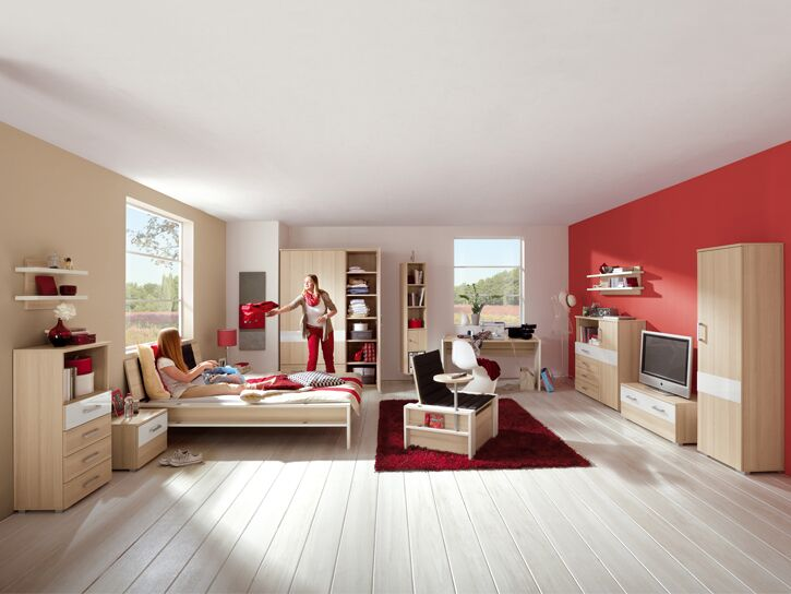 Kinder- und Jugendzimmerprogramm in Holz/weiß