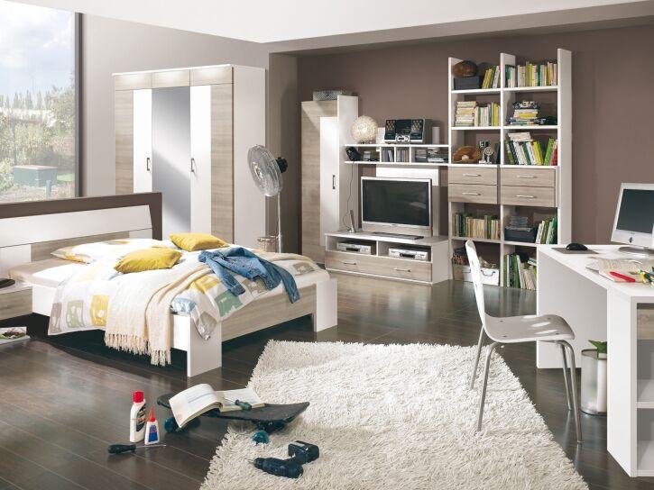 Kinder- und Jugendzimmer in Holz/weiß