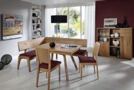 Moderne Eckbank, Tisch, 2 Stühle