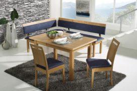 Moderne Eckbank, Tisch, Stühle