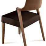 Vollholz-Stuhl mit Rundlehne