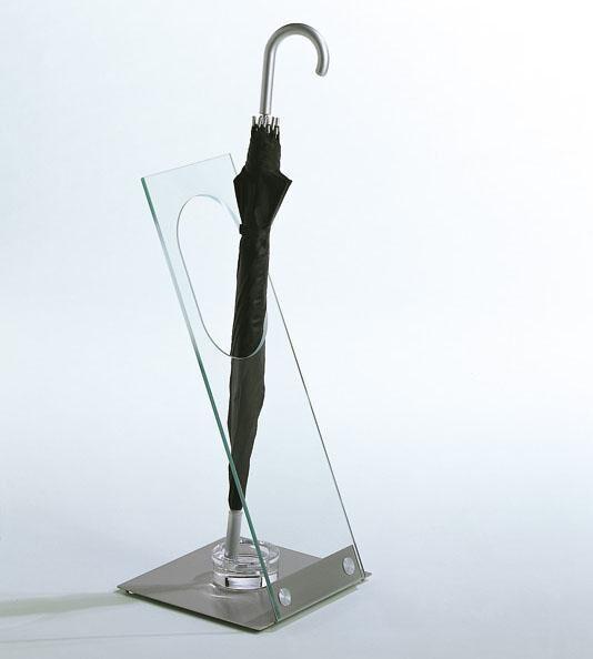 Garderoben-Schirmständer Acrylglas/Metall