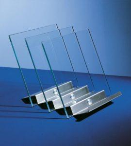 Zeitungsständer Glas/Metall