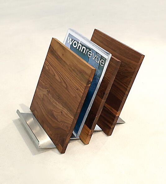 Zeitungsständer Holz/Metall
