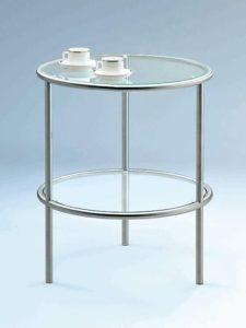 Beistelltischchen rund Glas/Metall