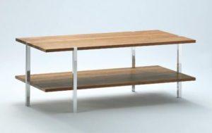 TV-Möbel/Beistelltisch rechteckig, Holz/Metall