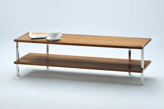 TV-Möbel oder Beistelltisch rechteckig, Holz/Metall