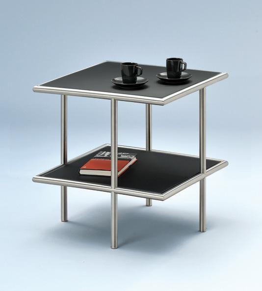 Beistelltischchen quadratisch, schwarz/Metall