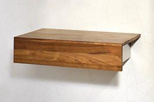 Wandkästchen mit Schublade, Holz/Metall