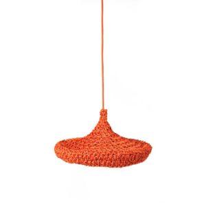Deckenleuchte gestrickt,orange