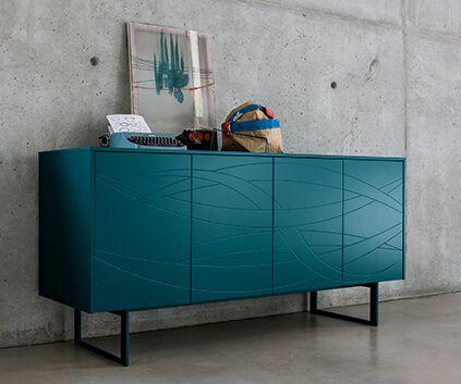 Hochwertiges Sideboard, verschiedene Farben, Fronten strukturiert