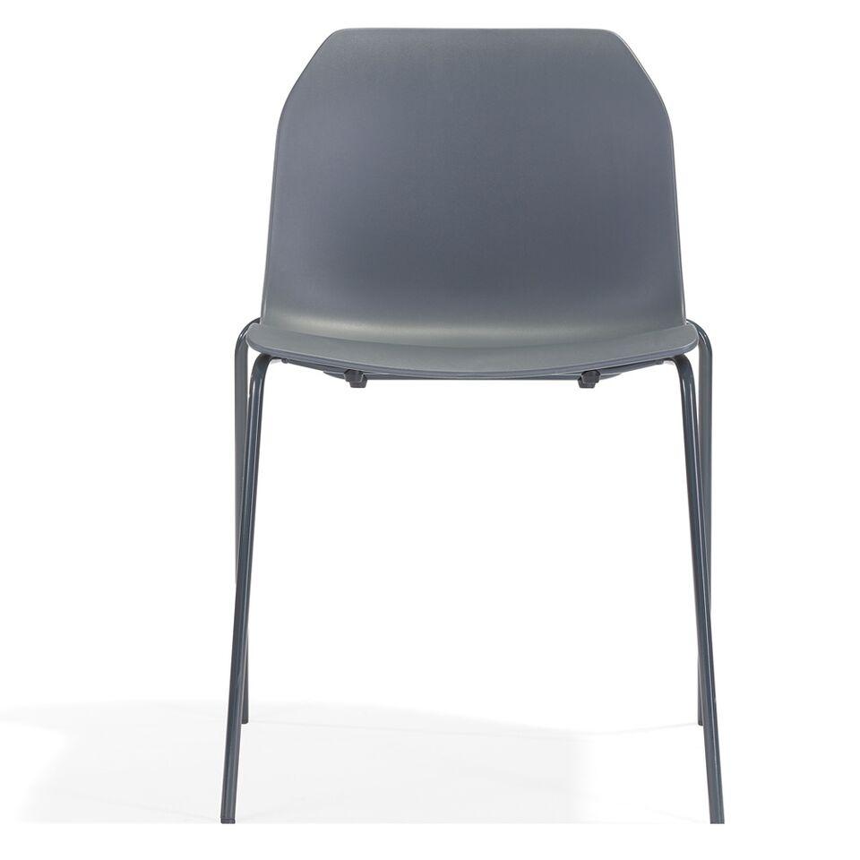 Stuhl Metall / Kunststoff grau