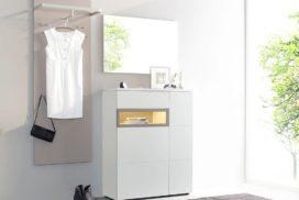 Garderobe beige/weiß