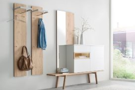 Garderobe Holz/weiß