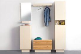 Garderobe beige/Holz