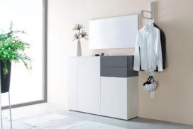 Garderobe weiß/grau