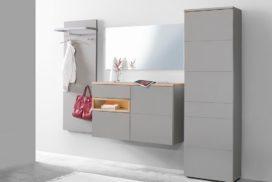 Garderobe grau/Holz