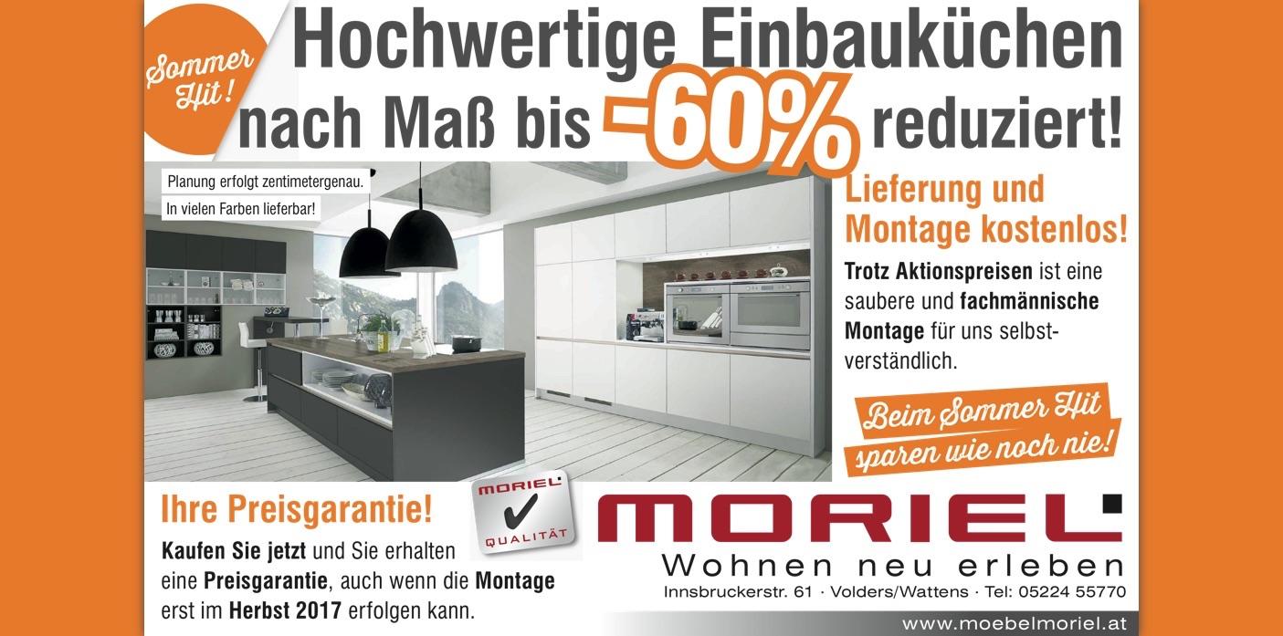 Aktion -60% auf unsere hochwertigen Einbauküchen nach Maß!
