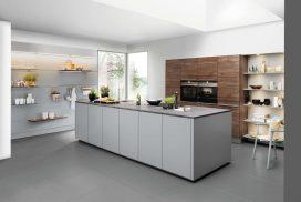 Küche Artwood Nussbaum / Papyrusgrau