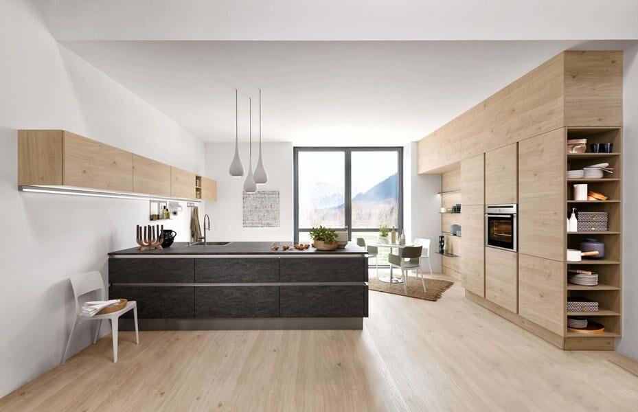 Küche Asteiche Natur / Stone Basalt